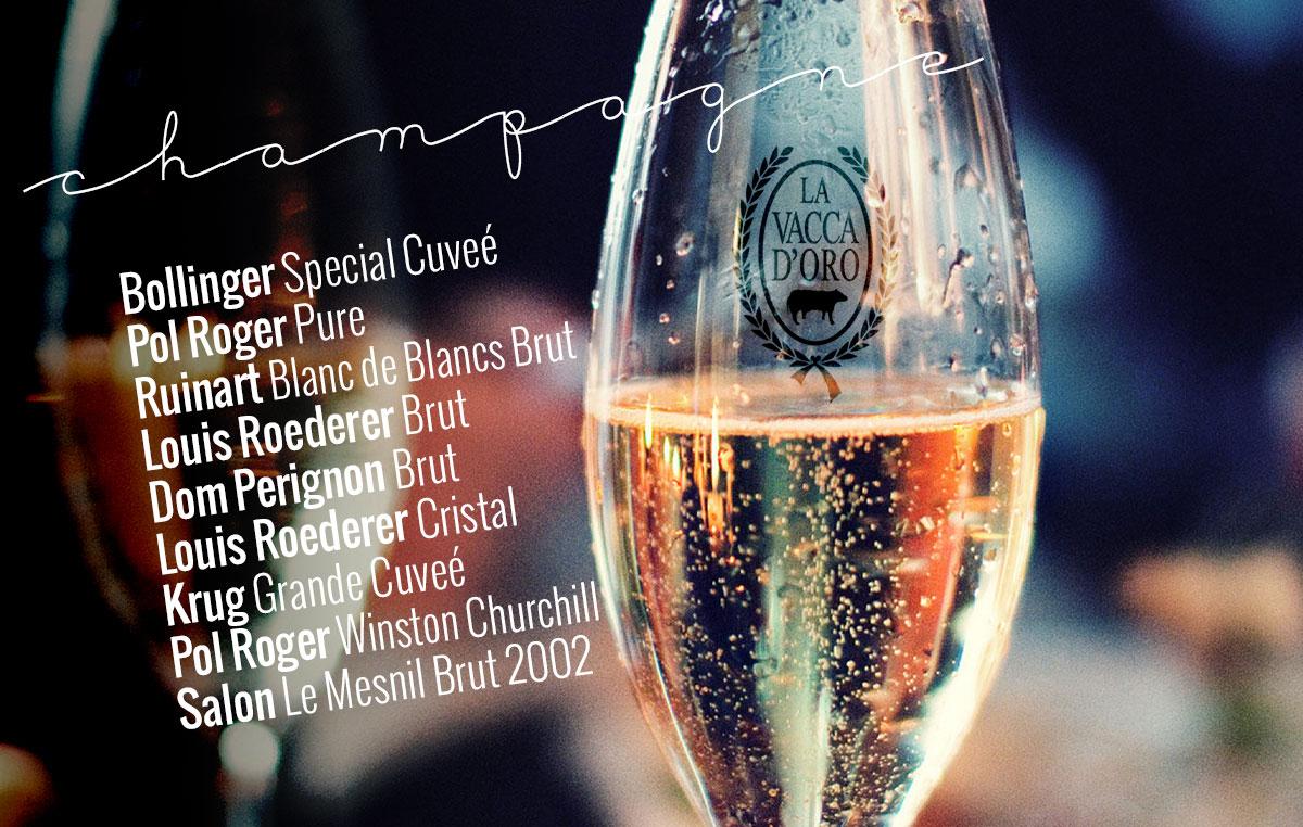 champagne 2017 de la vacca doro